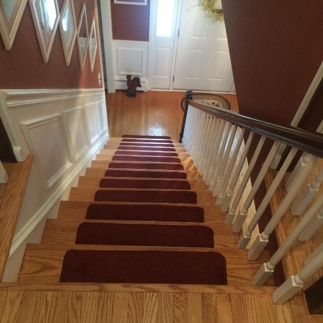 Final Touch After Removing Old Carpeting, Refinishing 55 Year Old Hard Wood  Floors, And