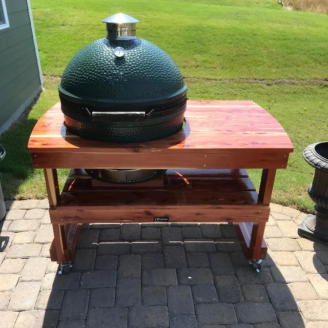 Fits My BGE Perfectly And Still Has Plenty Of Working Space.