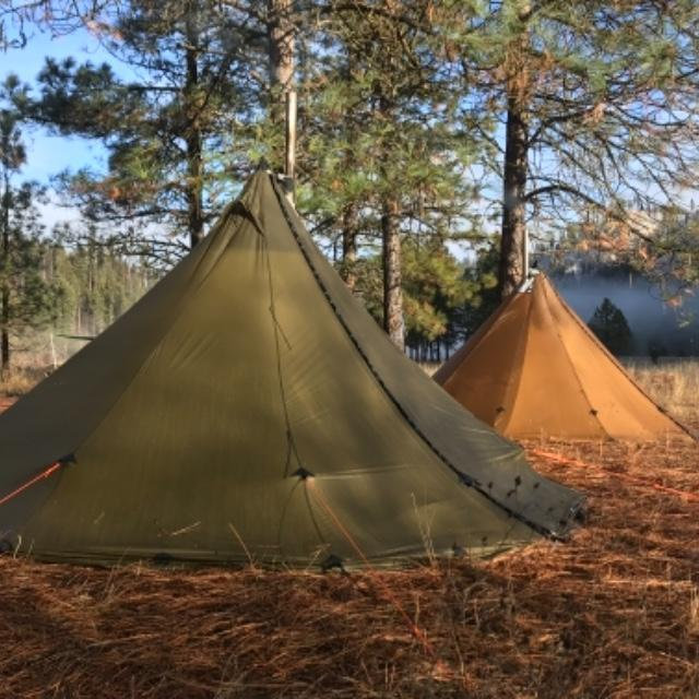 Just two tipis in the Idaho wilderness & Tipi Tents by Seek Outside and Ultralight Pyramid Tents
