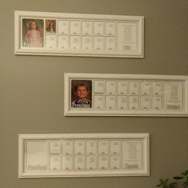 School Years Picture Frame - Preschool to Graduation - Personalized ...