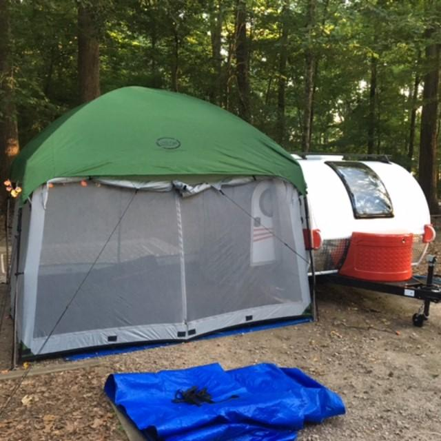 First Trip With the T@G and Little Guy Tent & 10x10 Side Mount Screen Room Tent by PahaQue u2013 TeardropShop.com