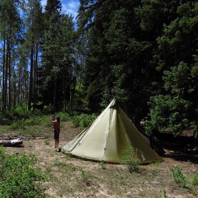Viewing solar eclipse in Colorado high country & 8 Person Tipi Tent