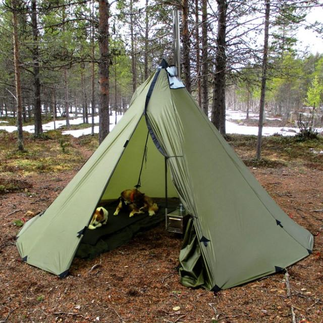 5 of 5 & 4 Person Ultralight Tipi with Wood Stove