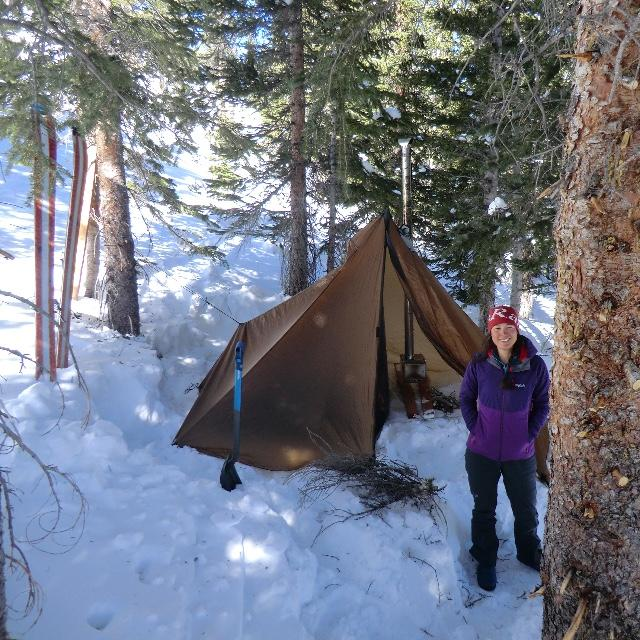 Holy Cross Wilderness CO Setting up c& at 11650 feet & Cimarron Ultralight Tent